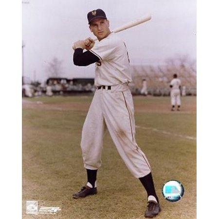 Bobby Thomson - Posed with bat Sports Photo
