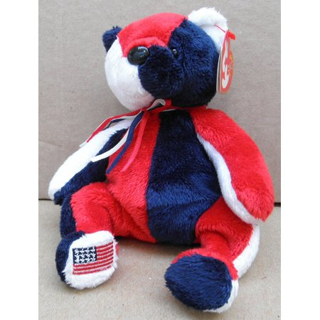 ad5c1a98099 TY Beanie Babies Patriot the Bear Plush Toy Stuffed Animal By G35832784 -  Walmart.com