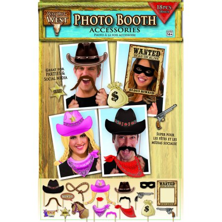 Western Cowboy Photo Booth Accessories Party Favors - Western Photo Booth