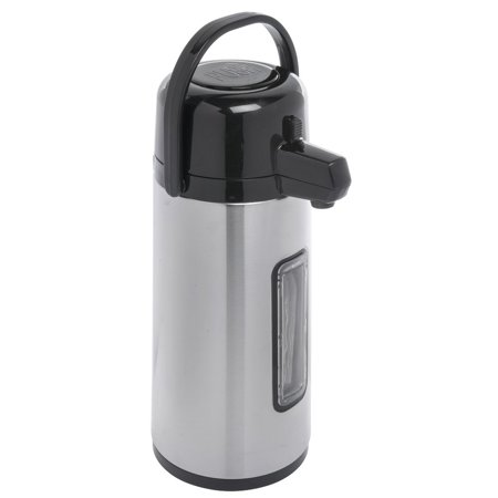 Service Ideas Eco-Air 2.2L Sight Glass Glass-Lined Stainless Steel Airpot with Pump Lid
