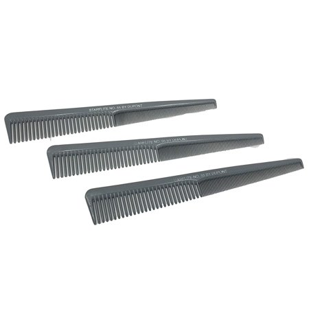 Dupont Starflite Barber Comb #55-3 Pack, 100% Satisfaction Money Back Guaranteed! By (Gbs Back Zip)
