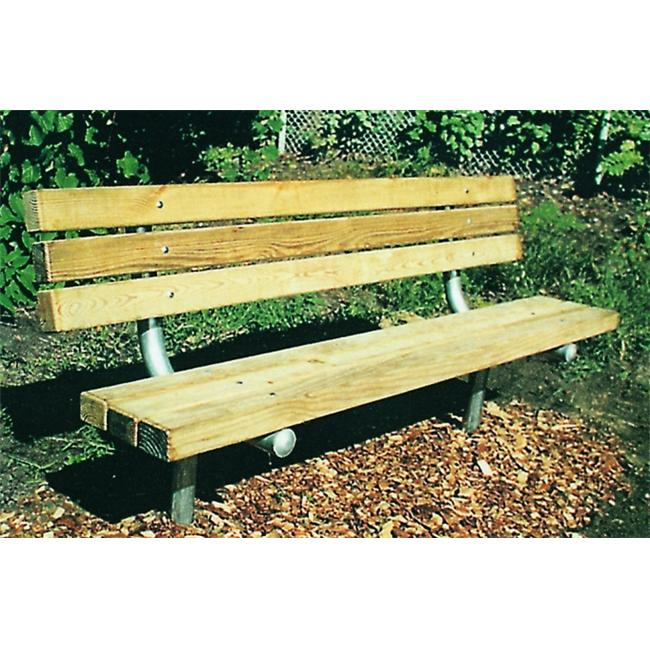 Kidstuff Playsystems 50506 6 inch Economy Bench Redwood