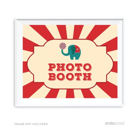Photo Booth Carnival Circus Birthday Party Signs