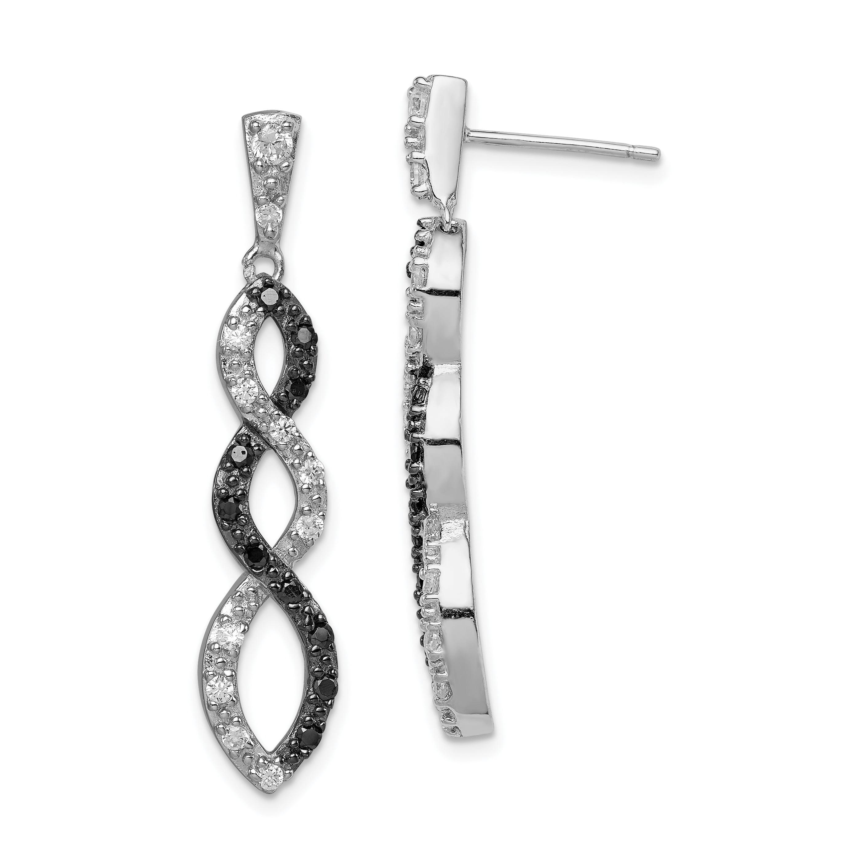 16mm x 10mm Mia Diamonds 925 Sterling Silver Diamond and Opal Pendant