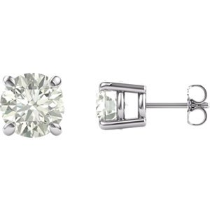 974b61140 Jewels By Lux Set 14k White Gold Charles & Colvard Forever One Moissanite  Colorless-Def