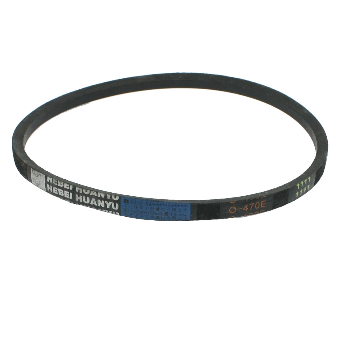 Unique Bargains Black Machinery Transmission Rubber Band Vee Belt O-470E