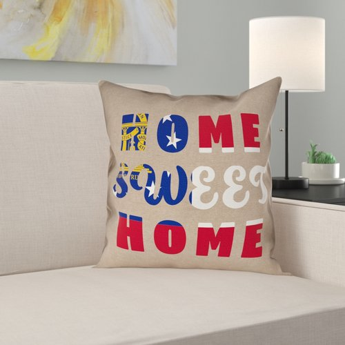 Ebern Designs Fawcett Home Sweet Georgia Pillow