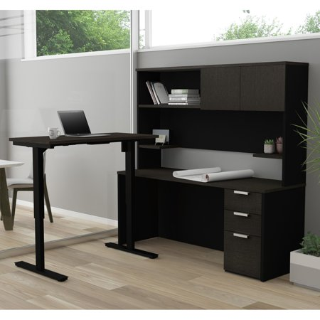 Pro-Concept Plus Height AdjustableL-Desk with Hutch in ...