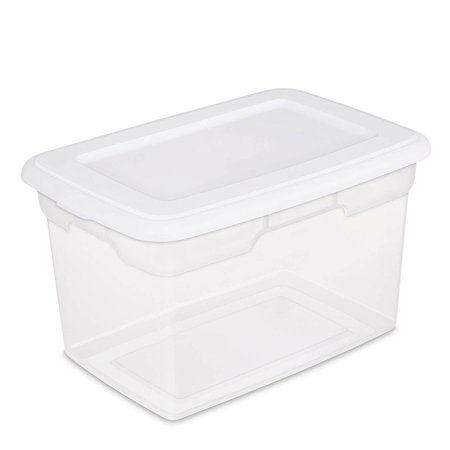 20 Quart Storage Box- White, Case of 6, This 20-QUART STORAGE BOX is made of durable plastic. By -