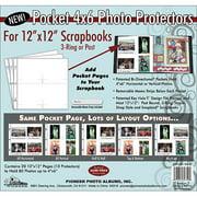 Pioneer Scrapbook Refill Page 12x12 5pc 4x6 Pocket