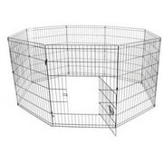 Aleko SDK-42B Dog Playpen Pet Kennel Pen Exercise Cage Fence, 8-Panel