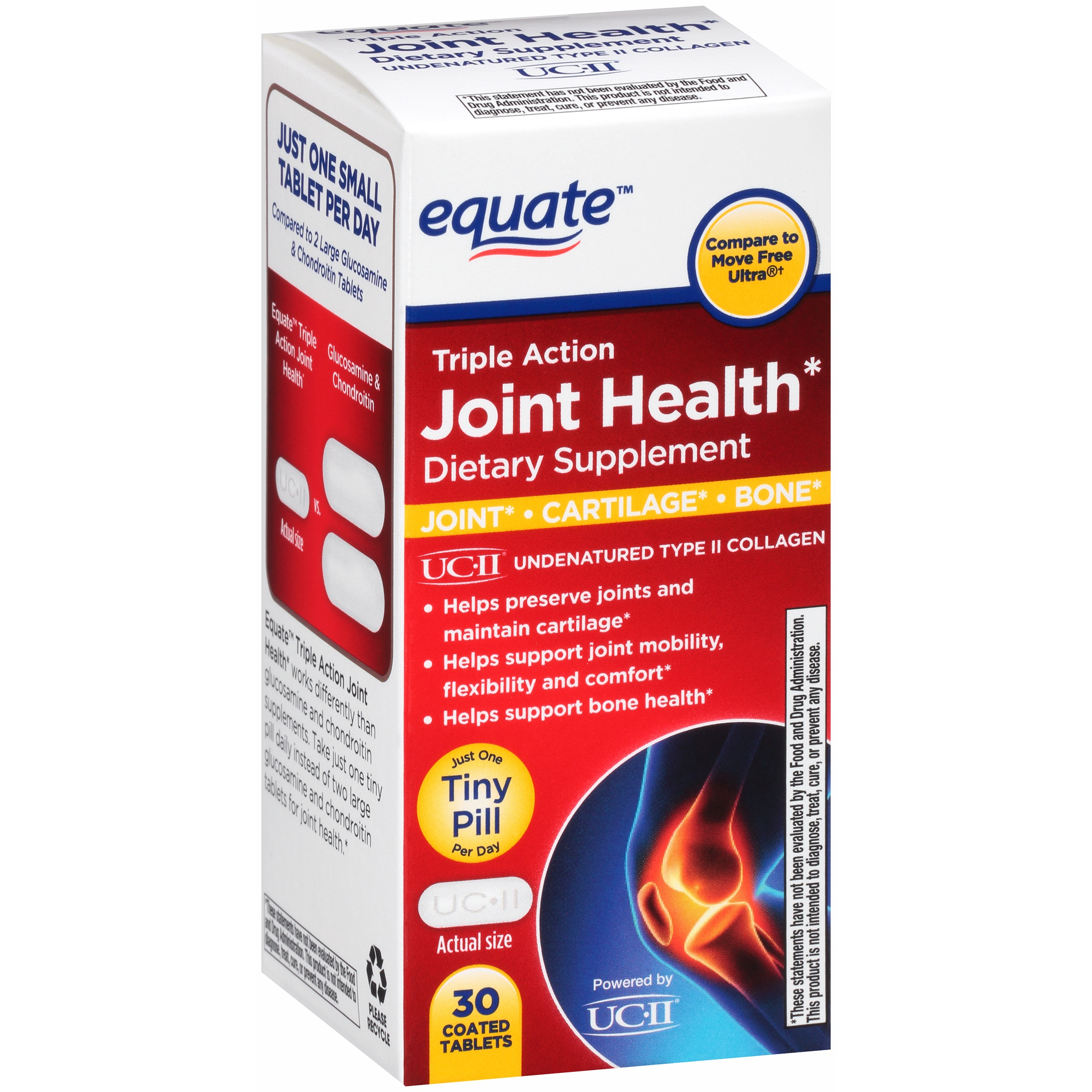 Walmart Credit Card Review >> Equate triple action joint health (30 Ct) - Walmart.com