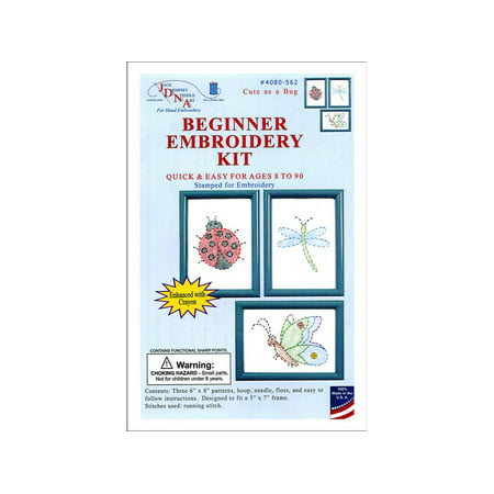 Jack Dempsey Beginner Embroidery Kit Cute as a Bug