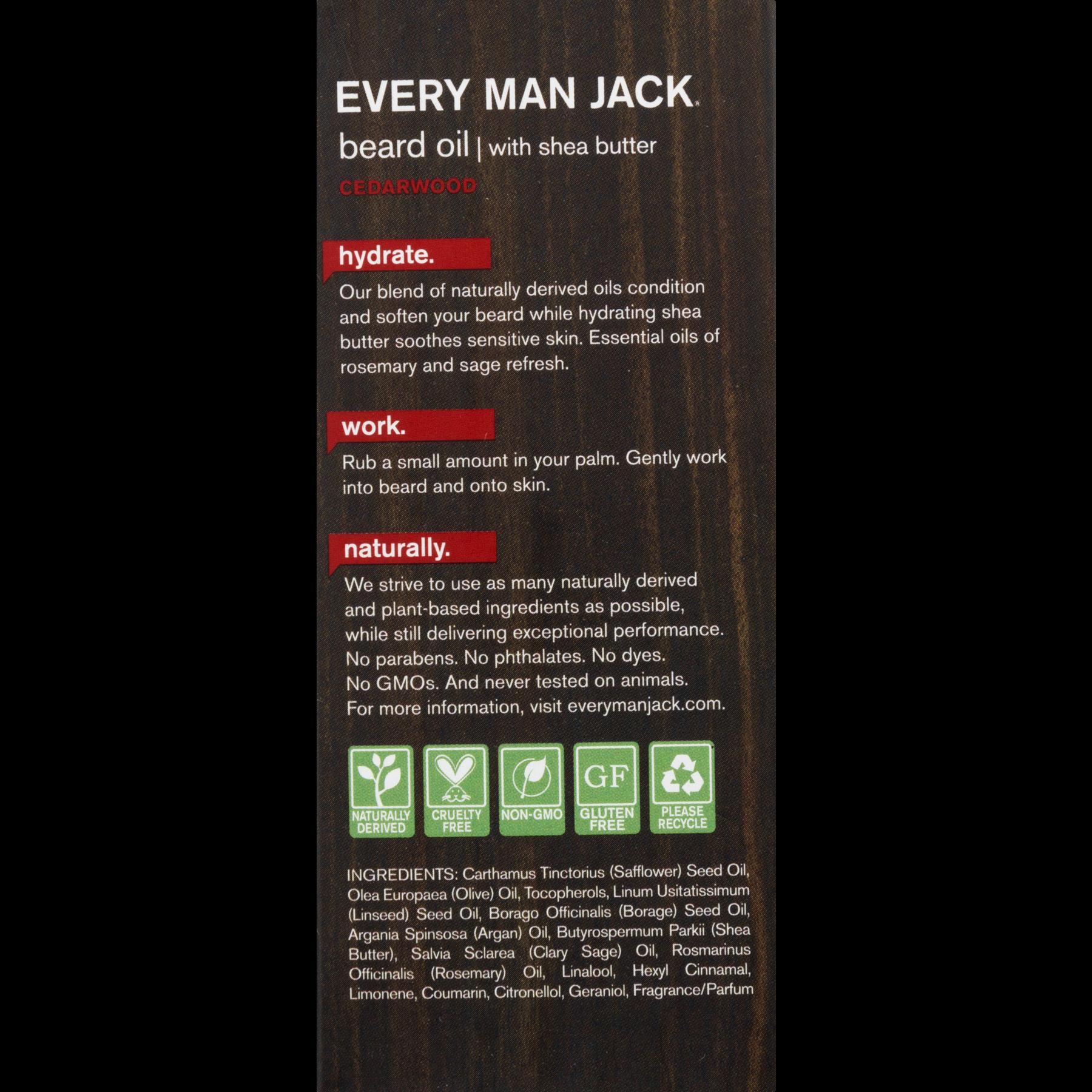 Every Man Jack Beard Oil, Cedarwood, 1 Oz - Walmart com