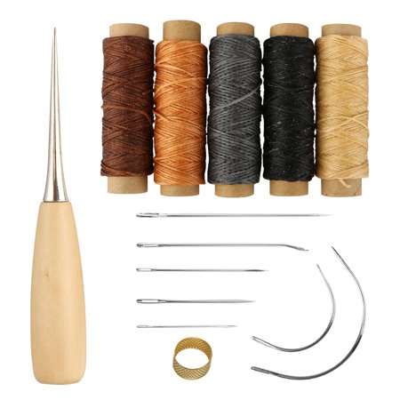 Upholstery Carpet Leather Canvas Repair Curved Hand Sewing Needles Kit New J