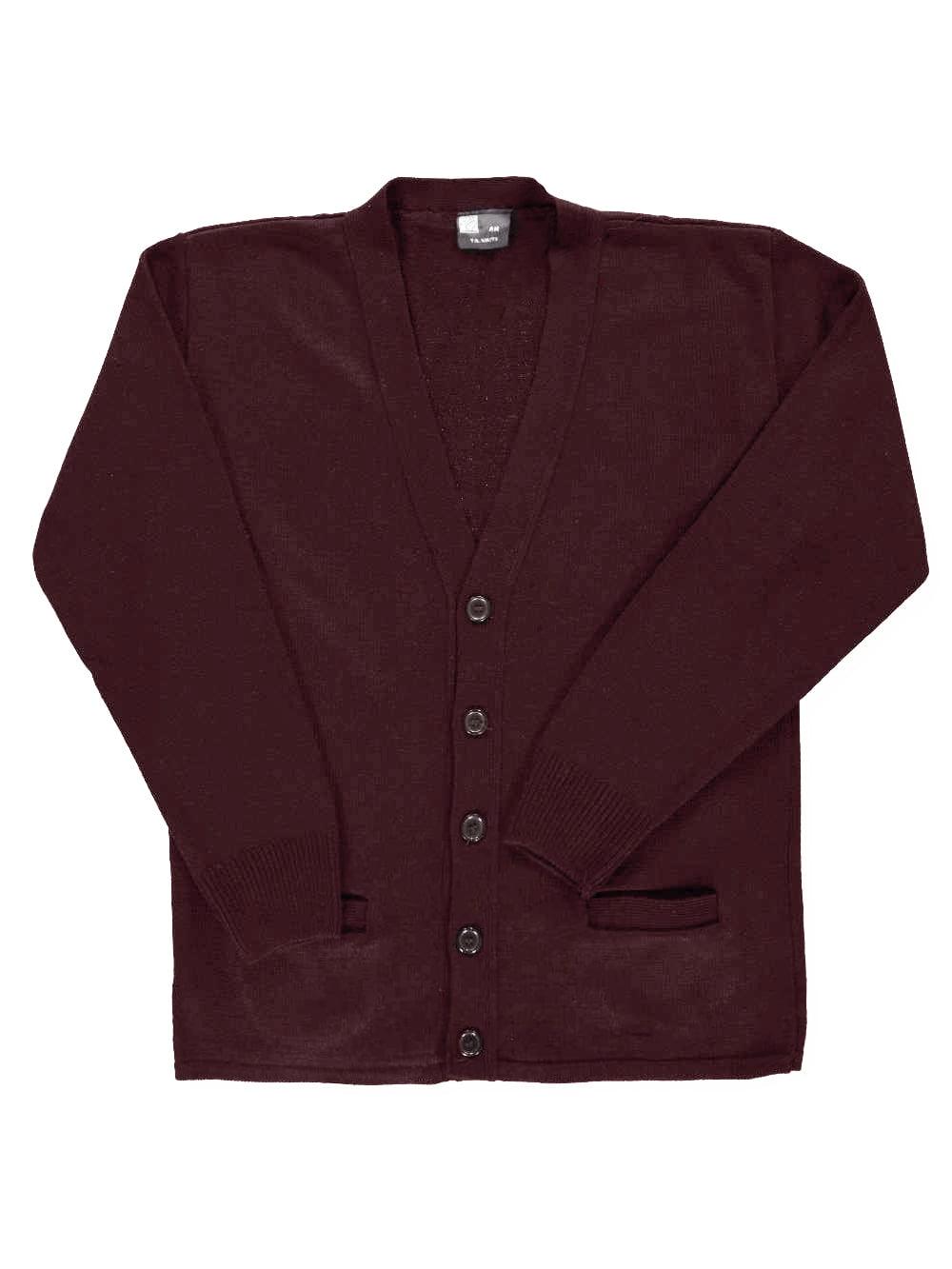 T.Q. Knits Big Boys' Adult Control-Pil 4-Button Cardigan (Adult Sizes S - XXL)