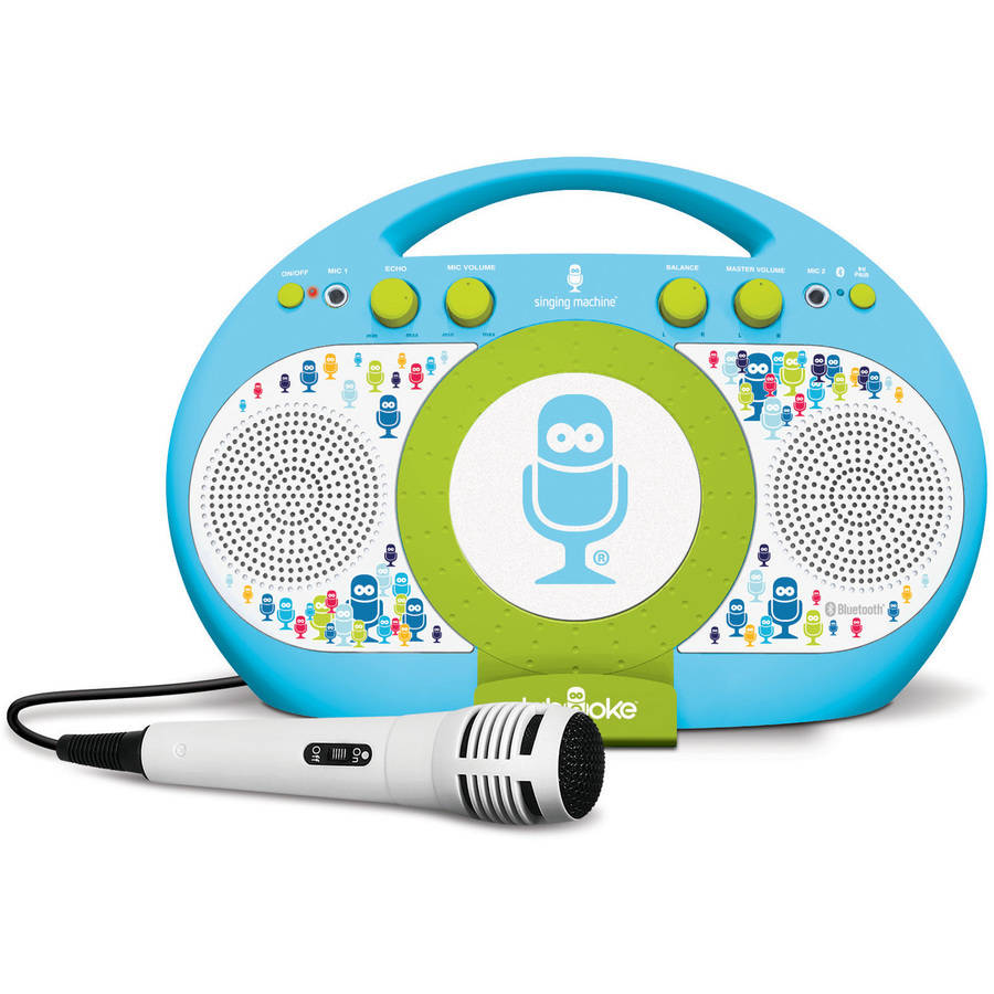 Singing Machine Tabeoke Portable Bluetooth Karaoke System, Compatible with a Variety of Karaoke Apps, Blue