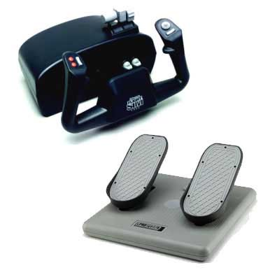 CH Products Flight Sim Yoke and Pedals Beginner Bundle Ch Products Flight Simulator Yoke