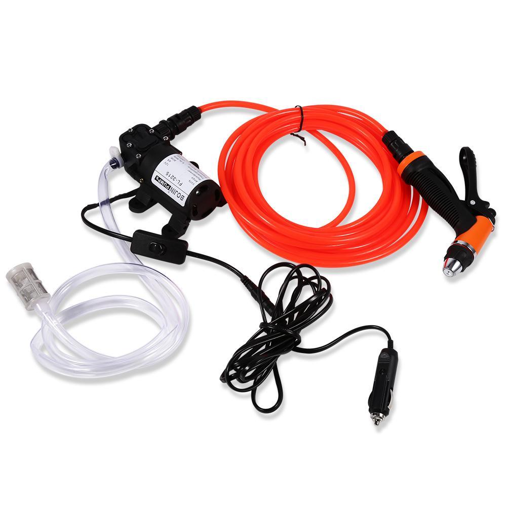 Yosoo 12V Portable High Pressure Self-priming Quick Car Cleaning Water Pump Electrical Washer Kit , Wash Pump, Car Wash