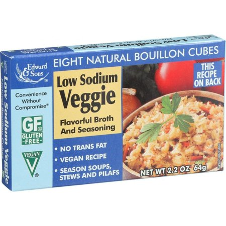 Veggie Stock - Edwards And Sons Natural Bouillon Cubes - Veggie - Low Sodium - 2.2 Oz - Pack Of 12
