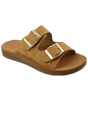 b98d2f55466c Product Image Women s Super Comfort Lightweight Flat Slide Double Strap  Sandal (FREE SHIPPING)