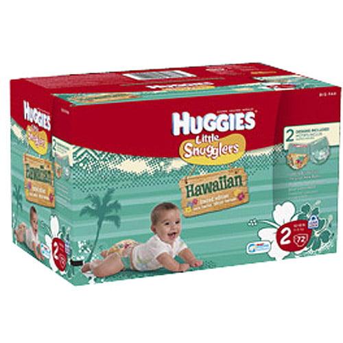 Huggies Little Snugglers Hawaiian Diapers, Step 2, Big Pack