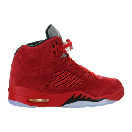 Mens Air Jordan 5 V Retro Red Suede University Red Black 136027-602