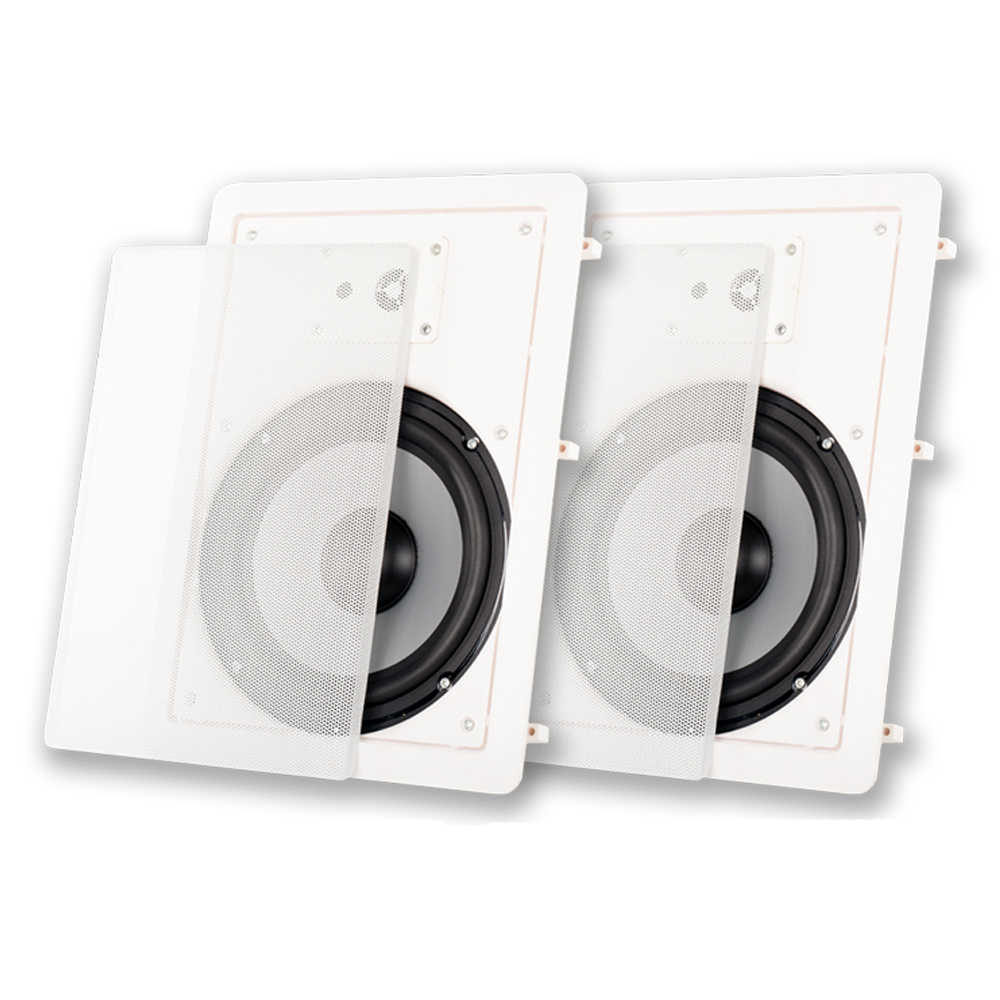 """Acoustic Audio CSiw830 8"""" 3-Way Home Theater In-Wall/Ceiling Speaker Pair"""