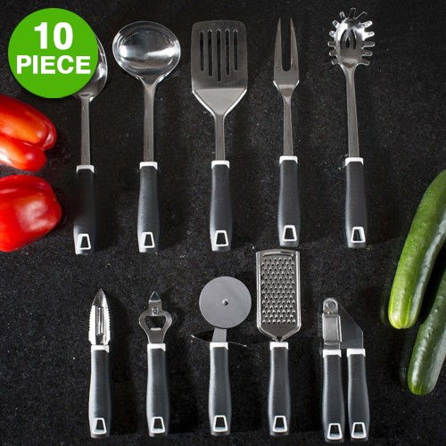 10-piece: Modernhome Stainless Steel Kitchen Tools & Gadget Utensil Set