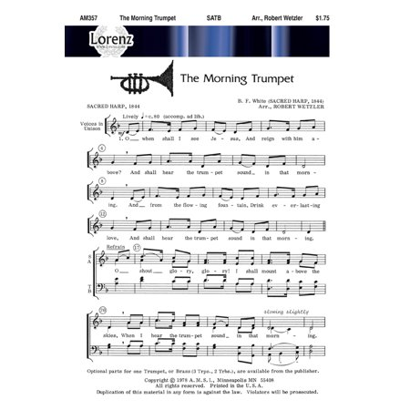 The Morning Trumpet Sac Anthem   Satb Kybd   Tpt   Robert Wetzler   Sheet Music   Am357