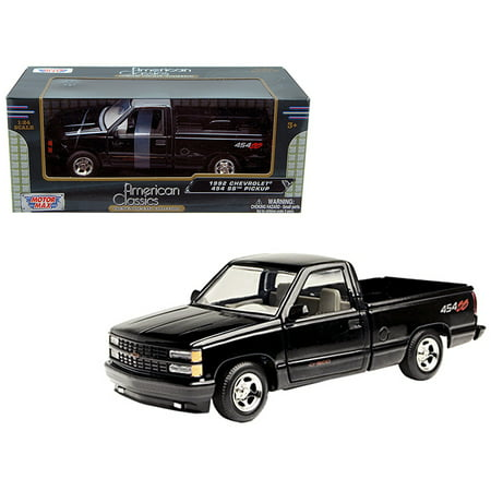 Pickup Trike - 1992 Chevrolet Pickup Truck SS 454 Black 1/24 Diecast Model Car by Motormax