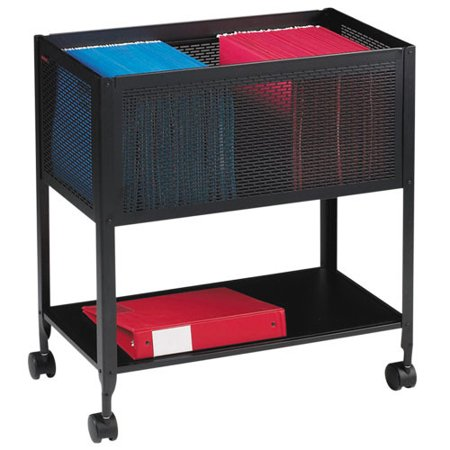 Lorell 1 Drawers Filing Cart Steel , Black