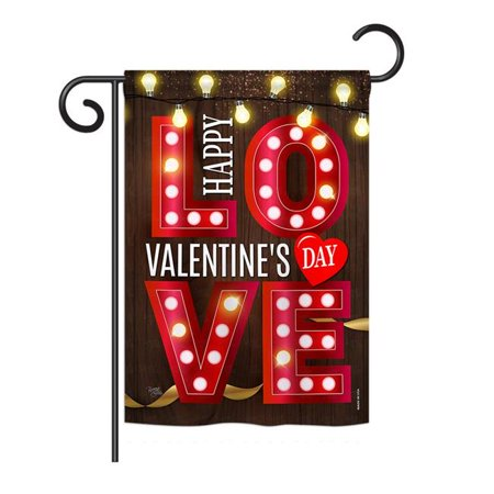 Breeze Decor BD-VA-G-101053-IP-BO-DS02-US - Drapeau de jardin vertical d-coratif Lightful Valentine Love Spring - Impression saisonni-re de la Saint-Valentin - 13 x 18,5 po. - image 1 de 1