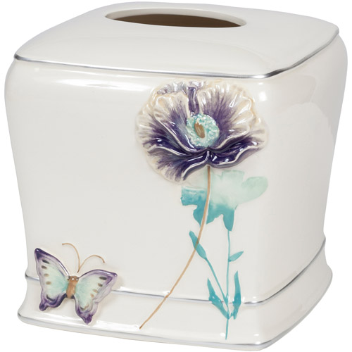 Creative Bath Garden Gate Ceramic Boutique Tissue, Lilac by Generic