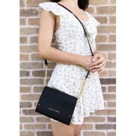 989cb96cf665 Michael Kors Hayes Small Clutch Crossbody Bag Black - Walmart.com