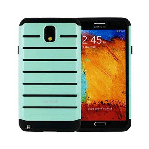 anymode rugged case for samsung galaxy note 3 - mint