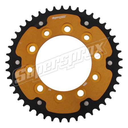 New Supersprox - Gold Stealth Sprocket, 45T, Chain Size 525, Rst-1304-45-Gld