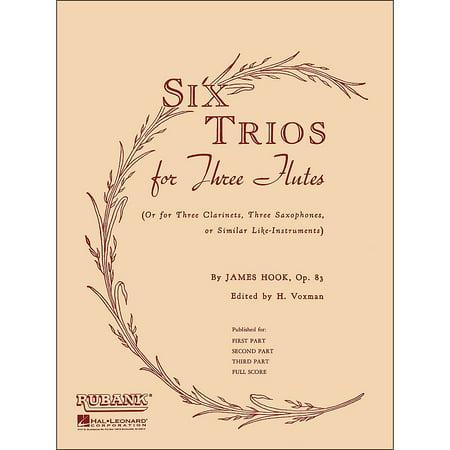 Hal Leonard Six Trios for Three Flutes Full - Full Fluted