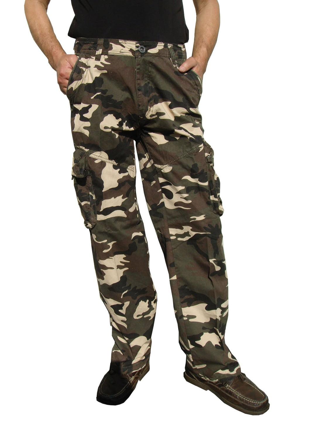 Mens Military-Style Camoflage Cargo Pants #27C3 34x34_DE
