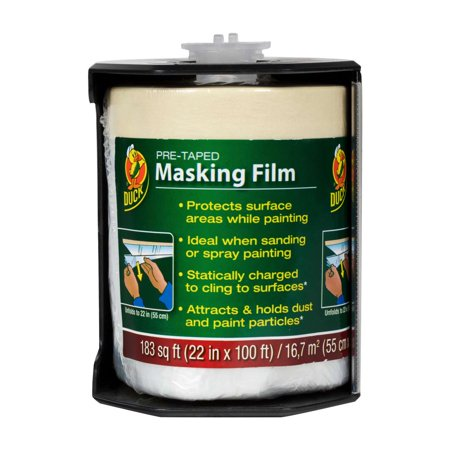 Masking Film Kit (Duck Brand Pre-Taped Masking Film - Clear, 22 in. x 100 ft. )