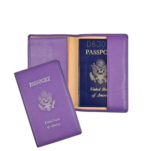 Royce Leather Passport Holder and Travel Document Organizer