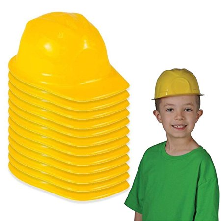 Construction Hat Toy -12 Pack Yellow, For Kids, Boys, Girls, Halloween, Themed Events, Props, Costume, & Dress Up – Kidsco - Dressed As A Girl For Halloween