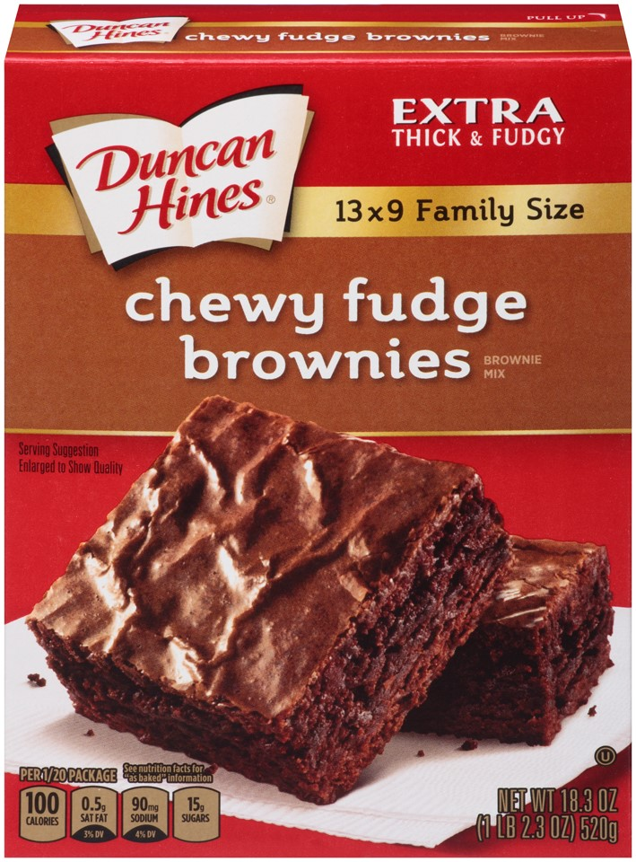Duncan Hines Brownie Mix, Chewy Fudge, 18.3 Oz by Pinnacle Foods