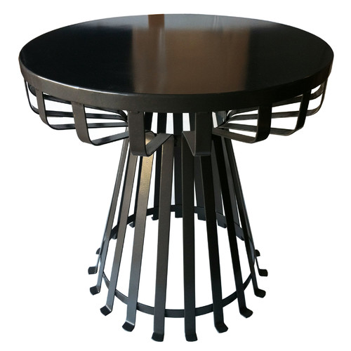 Pangaea Home and Garden Metal Iron Base Flat Side Table