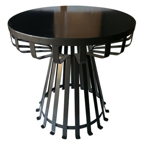 Pangaea Home and Garden Metal Iron Base Flat Side Table