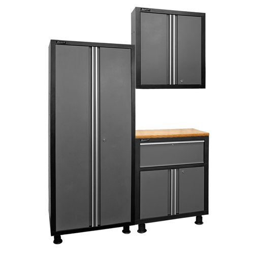 Homak 3 Piece Garage Series Cabinet Set