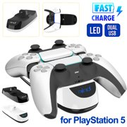 Controller Charger for PS5, Charging Station Dual Charger with Type-C Charging Cable, EEEkit Charger Dock for PS5 Controller Charger for Sony PS5 Console