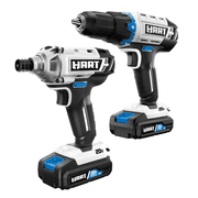 HART 20-Volt Cordless Drill and Impact Combo Kit with (2) 1.5Ah Lithium-Ion Batteries and Charger