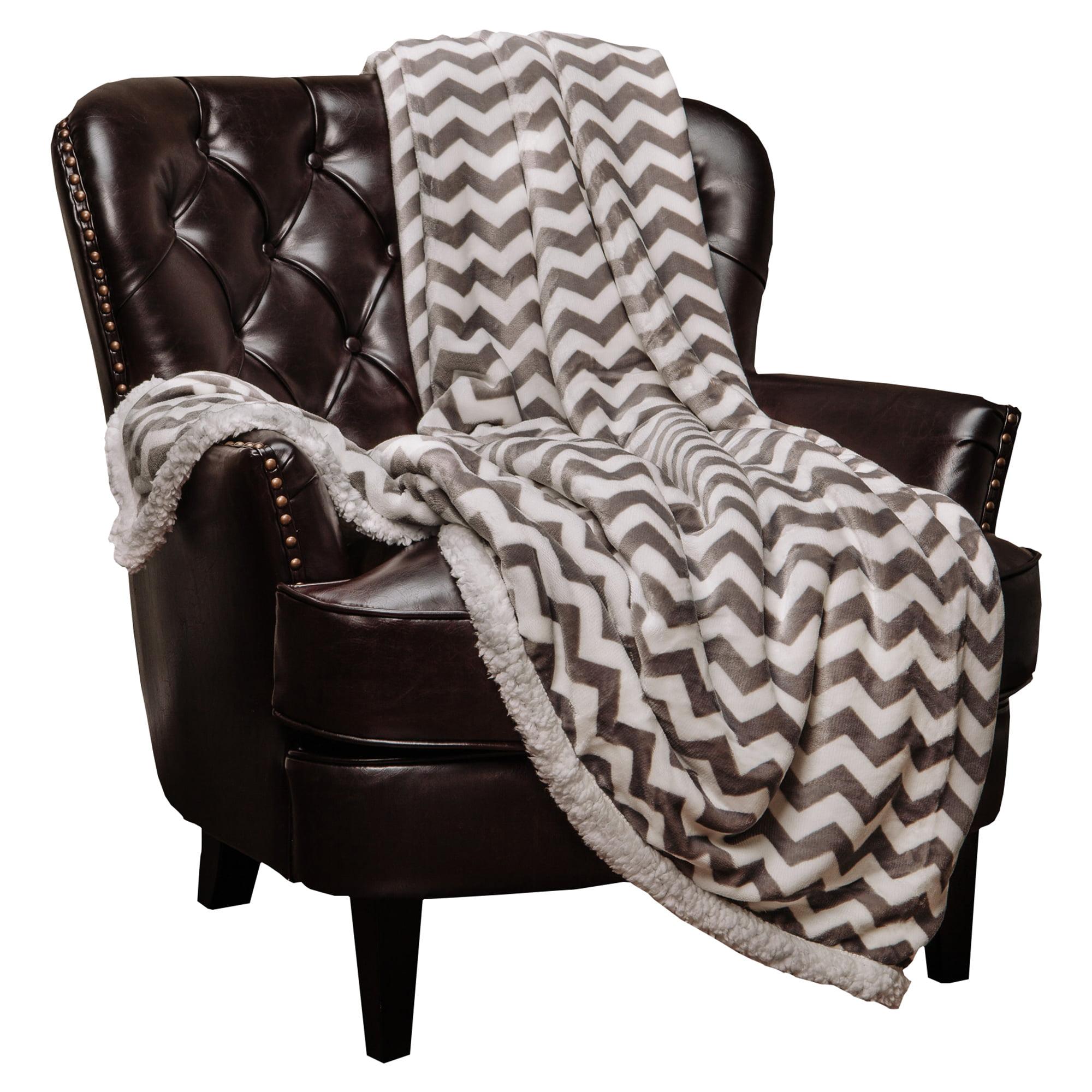 Chanasya Super Soft Sherpa Chevron Throw Blanket by Purchase Corner LLC