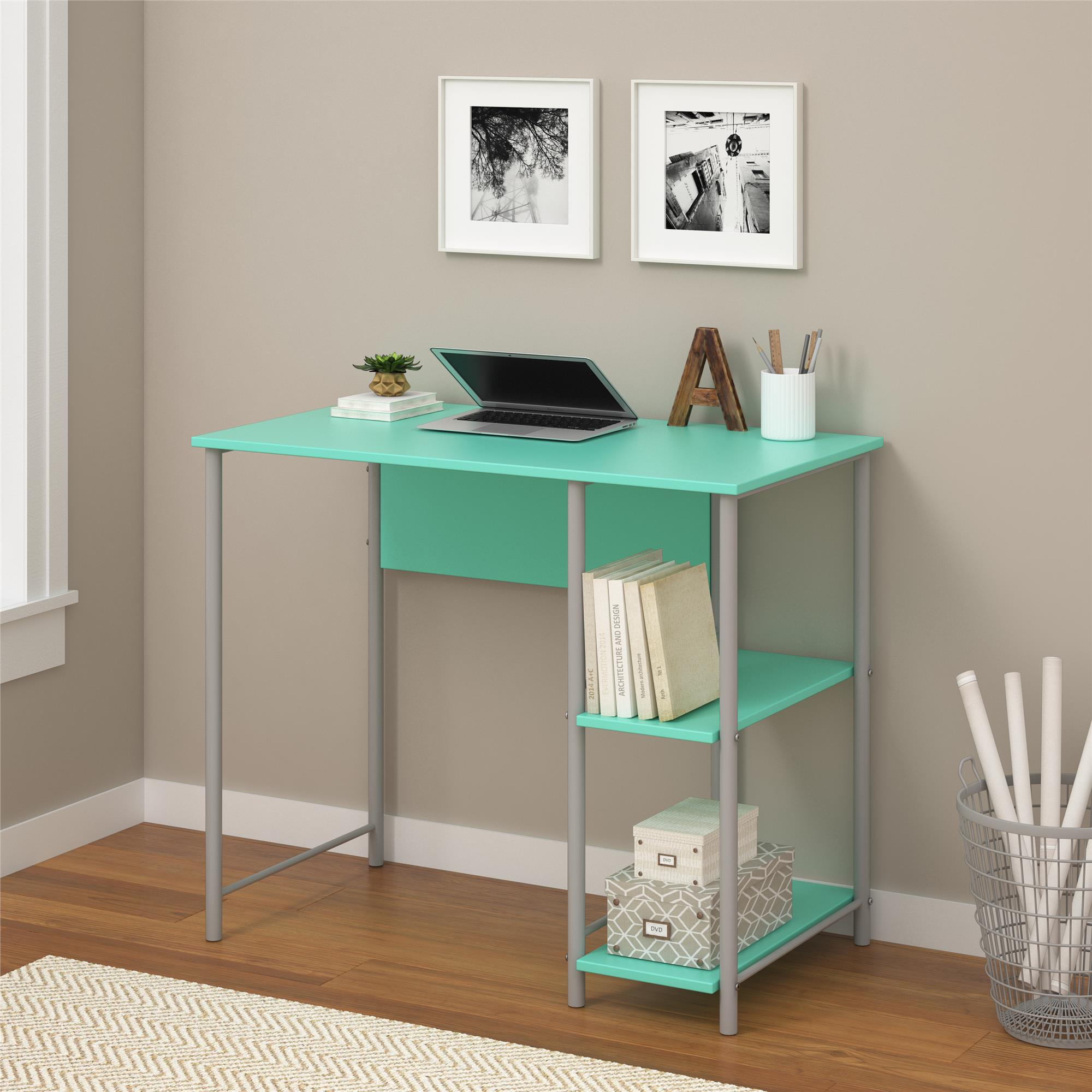 Stupendous Details About Ameriwood Home Garrett Metal Home Office Computer Desk With 2 Side Shelves New Home Interior And Landscaping Ologienasavecom